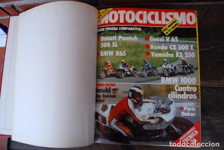 Coches y Motocicletas: LOTE DE 32 REVISTAS MOTOCICLISMO ENCUADERNADAS EN 2 VOLUMES AÑO 1983 - Foto 7 - 169358200