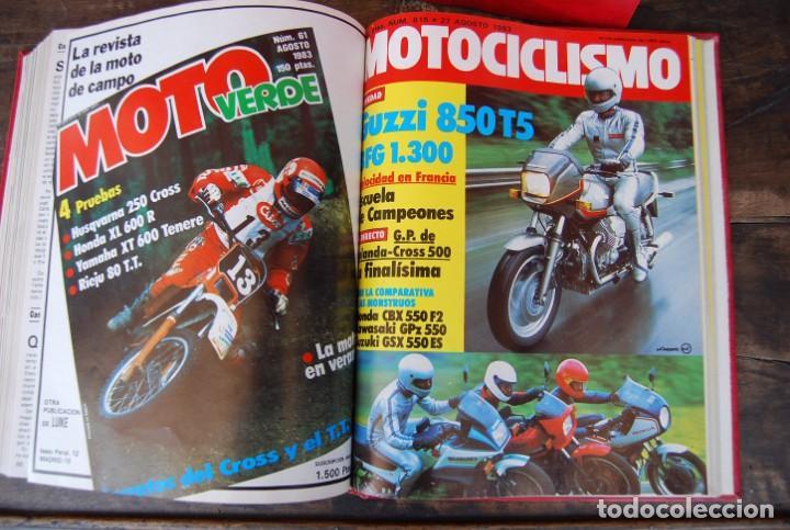Coches y Motocicletas: LOTE DE 32 REVISTAS MOTOCICLISMO ENCUADERNADAS EN 2 VOLUMES AÑO 1983 - Foto 8 - 169358200