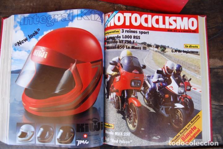 Coches y Motocicletas: LOTE DE 32 REVISTAS MOTOCICLISMO ENCUADERNADAS EN 2 VOLUMES AÑO 1983 - Foto 9 - 169358200