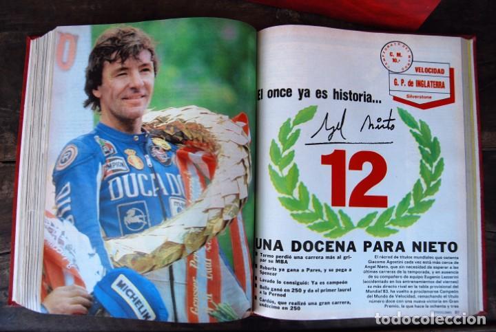 Coches y Motocicletas: LOTE DE 32 REVISTAS MOTOCICLISMO ENCUADERNADAS EN 2 VOLUMES AÑO 1983 - Foto 12 - 169358200