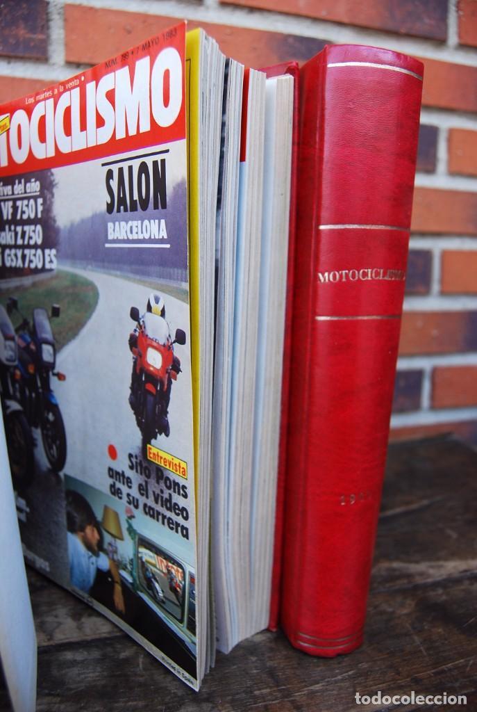 Coches y Motocicletas: LOTE DE 32 REVISTAS MOTOCICLISMO ENCUADERNADAS EN 2 VOLUMES AÑO 1983 - Foto 15 - 169358200