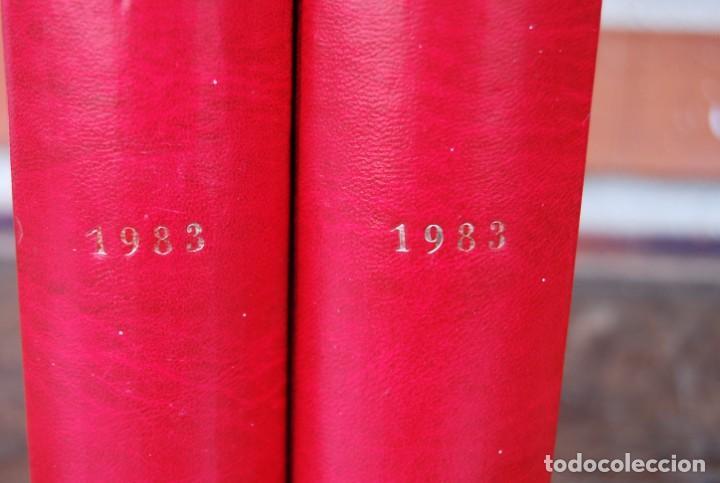 Coches y Motocicletas: LOTE DE 32 REVISTAS MOTOCICLISMO ENCUADERNADAS EN 2 VOLUMES AÑO 1983 - Foto 17 - 169358200