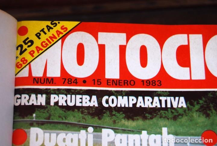 Coches y Motocicletas: LOTE DE 32 REVISTAS MOTOCICLISMO ENCUADERNADAS EN 2 VOLUMES AÑO 1983 - Foto 20 - 169358200