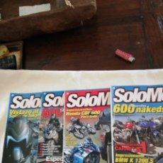 Coches y Motocicletas: REVISTAS SOLO MOTO 30... LOTE DE 4 REVISTAS NÚMEROS 250,266,253,259. Lote 169780794