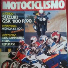 Coches y Motocicletas: MOTOCICLISMO N 1169 . SUZUKI GSX 1100R HONDA ST 1100 ,HONDA NSR. DERBI. Lote 170018024