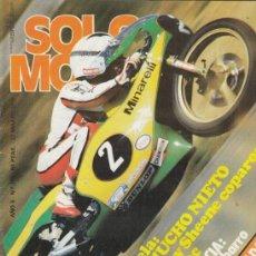 Coches y Motocicletas: REVISTA SOLO MOTO ACTUAL Nº 185 AÑO 1979. COMP RACING:BULTACO SHERPA 350, MONTESA COTA 348, OSSA 350. Lote 170375496