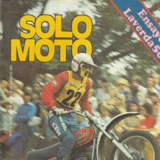 Coches y Motocicletas: REVISTA SOLO MOTO ACTUAL Nº 101 AÑO 1977. ENSAYO: OSSA 250 SPORT. CONTACTO: LAVERDA 500. Lote 170379544