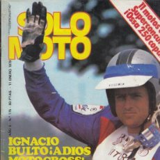 Coches y Motocicletas: REVISTA SOLO MOTO ACTUAL Nº 175 AÑO 1979. ENSAYO: BULTACO PURSANT 370. MOTO GUZZI JABATO. . Lote 170380048