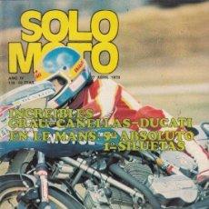 Coches y Motocicletas: REVISTA SOLO MOTO ACTUAL Nº 138 AÑO 1978. . Lote 170380392