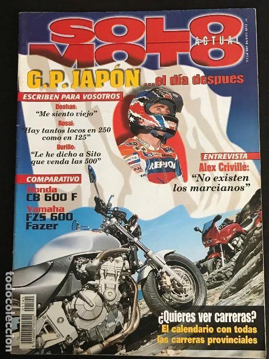 Usado, SOLO MOTO ACTUAL - Nº 1140 - ABRIL 1998 - HONDA CB 600 F YAMAHA FZS 600 FAZER ALEX CRIVILLE segunda mano