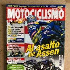 Coches y Motocicletas: MOTOCICLISMO N° 1756 (OCTUBRE 2001). APRILIA RSV 1000 VS TRIUMPH DAYTONA 900 VS YAMAHA R1, ROSSI. Lote 170886283