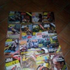 Coches y Motocicletas: LOTE DE 17 REVISTAS SOLO MOTO AÑO 1981 APROX VER LISTA. Lote 171053777