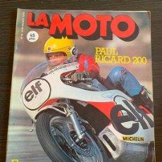 Coches y Motocicletas: REVISTA LA MOTO EQUIPO FÓRMULA N° 18 DE 1976 ENSAYO GUZZI 1000 CONVERT. Lote 171089114