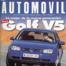 Coches y Motocicletas: REVISTA AUTOMOVIL Nº 239 AÑO 1997. PRU: VW GOLF V5 Y VW GOLF TDI. ALFA ROMEO 156 2.5 V6 Y 2.4 JTD.. Lote 171206915