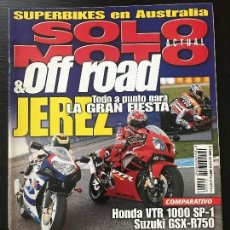 Coches y Motocicletas: SOLO MOTO ACTUAL - Nº 1246 - ABRIL 2000 - HONDA VTR 1000 SP1 SUZUKI GSX R750 SUZUKI BANDIT 1200. Lote 171232550