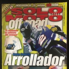 Coches y Motocicletas: SOLO MOTO ACTUAL - Nº 1271 - OCT 2000 - YAMAHA FJR 1300 YAMAHA R6 MOTOR HISPANIA RACING 50 RX. Lote 171307105