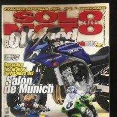 Coches y Motocicletas: SOLO MOTO ACTUAL - Nº 1266 - SEP 2000 - GAMA SHERCO TRIAL ENDURO YAMAHA YFM 660R . Lote 171309525