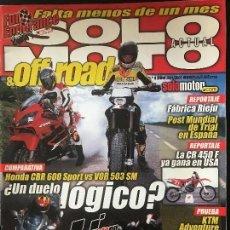 Coches y Motocicletas: SOLO MOTO ACTUAL - Nº 1299 - ABRIL 2001 - HONDA CBR 600S VOR 530 SM DUCATI ST 4S KTM ADVENTURE. Lote 171309932