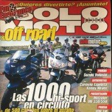 Coches y Motocicletas: SOLO MOTO ACTUAL - Nº 1297 - ABRIL 2001 - HONDA RC 211V SUZUKI VOLUSIA METZELER ME330/550 . Lote 171310067