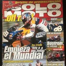 Coches y Motocicletas: SOLO MOTO ACTUAL - Nº 1295 - ABRIL 2001 - DUCATI 748 HONDA CBR 600F KAWASAKI ZX 6R SUZUKI GSX R600 . Lote 171310329