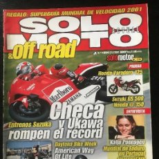 Coches y Motocicletas: SOLO MOTO ACTUAL - Nº 1294 - MARZO 2001 - HONDA VARADERO 125 SUZUKI GS 500E HONDA 150 MARC FREIXA. Lote 171310563