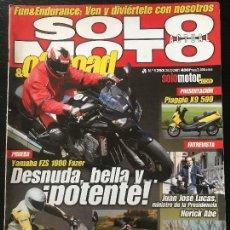 Coches y Motocicletas: SOLO MOTO ACTUAL - Nº 1293- MARZO 2001 - YAMAHA FZS 1000 FAZER PIAGGIO X9 500 KAWASAKI ZR 7S. Lote 171310677