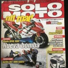 Coches y Motocicletas: SOLO MOTO ACTUAL - Nº 1288 - FEB 2001 - DUCATI SP SUZUKI SV 650 BMW R 1150 RT SUZUKI BURGMAN 250. Lote 171341500