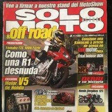 Coches y Motocicletas: SOLO MOTO ACTUAL - Nº 1287 - FEB 2001 - HONDA VARADERO 125 HISTORIA DERBI YAMAHA FAZER 1000 EXUP . Lote 171341688