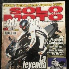 Coches y Motocicletas: SOLO MOTO ACTUAL - Nº 1284 - ENERO 2001 - DUCATI 750S YAMAHA XVS 125 PIAGGIO ZIP 125 4T . Lote 171341907