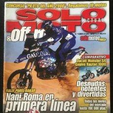 Coches y Motocicletas: SOLO MOTO ACTUAL - Nº 1283 - ENERO 2001 - DUCATI S4 CAGIVA RAPTOR YAMAHA YZR 250DAELIM DAYSTAR 125. Lote 171342010