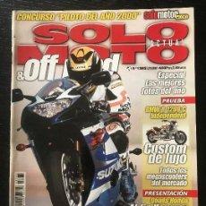 Coches y Motocicletas: SOLO MOTO ACTUAL - Nº 1282 - ENERO 2001 - BMW R 1200C SUZUKI GSX R 1000 APRILIA 50 DITECH. Lote 171342117