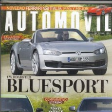 Coches y Motocicletas: REVISTA AUTOMOVIL Nº 380 AÑO 2009. PRU: VW ROADSTER BLUESPORT. COMP: FORD FOCUS RS Y NISSAN 370Z. . Lote 171754147