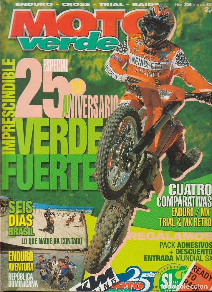 REVISTAS MOTO VERDE - LOTE DE 4 NÚMEROS (Coches y Motocicletas - Revistas de Motos y Motocicletas)