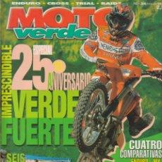 Coches y Motocicletas: REVISTAS MOTO VERDE - LOTE DE 4 NÚMEROS. Lote 172323538