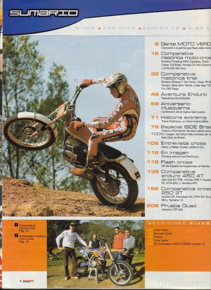 Coches y Motocicletas: REVISTAS MOTO VERDE - LOTE DE 4 NÚMEROS - Foto 2 - 172323538