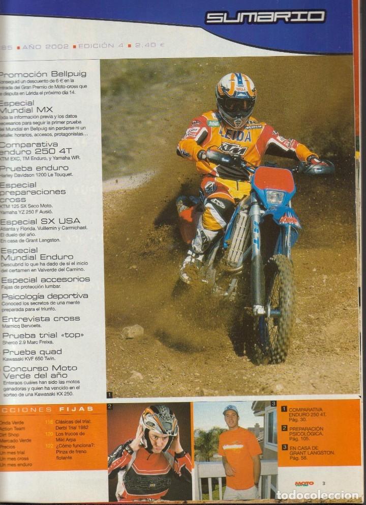 Coches y Motocicletas: REVISTAS MOTO VERDE - LOTE DE 4 NÚMEROS - Foto 4 - 172323538