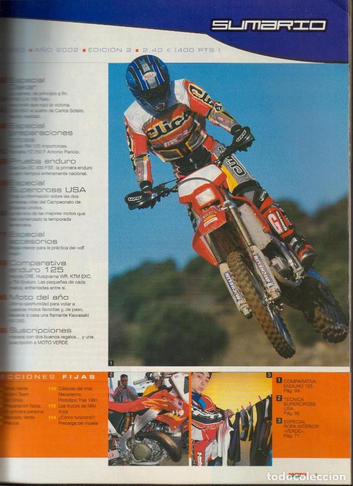 Coches y Motocicletas: REVISTAS MOTO VERDE - LOTE DE 4 NÚMEROS - Foto 6 - 172323538
