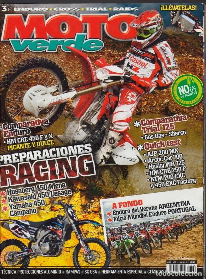 Coches y Motocicletas: REVISTAS MOTO VERDE - LOTE DE 4 NÚMEROS - Foto 7 - 172323538