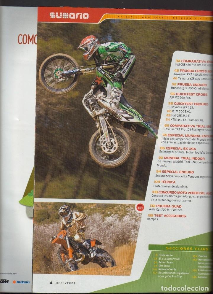 Coches y Motocicletas: REVISTAS MOTO VERDE - LOTE DE 4 NÚMEROS - Foto 8 - 172323538