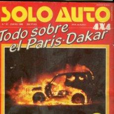 Coches y Motocicletas: SOLO AUTO Nº 61 ESPECIAL PARIS/DAKAR- LAMBORGUINI LM- ARO/SUZUKI/LADA- MUNDIAL RAYS Y F-1 ENERO 1988. Lote 172380269