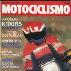 Coches y Motocicletas: MOTOCICLISMO Nº 1154 - BIMOTA TESI - G.P. JAPON AGITADO - CAGIVA FRECCIA - BMW K 100 16 V ABRIL 1990. Lote 172426052