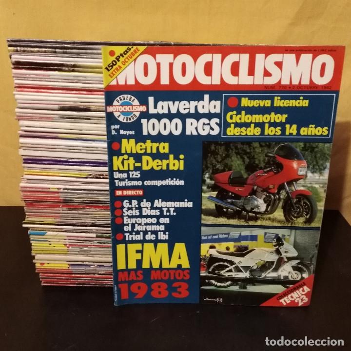 Coches y Motocicletas: Lote 96 Revistas Motociclismo nº700-799 1981-83 Completa Coleccionismo Motos - Foto 2 - 172724420