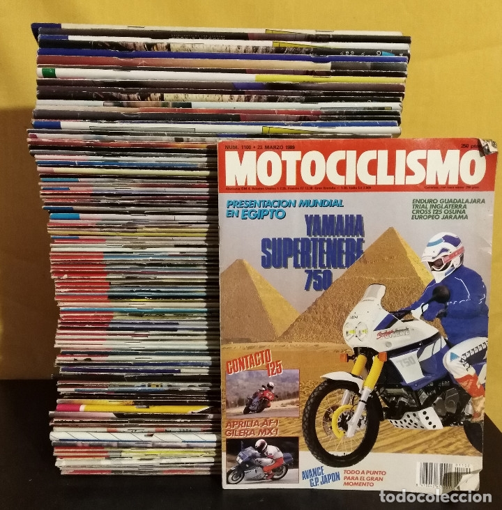 LOTE 97 REVISTAS MOTOCICLISMO Nº1100-1199 19889-91 CASI COMPLETA COLECCIONISMO MOTOS (Coches y Motocicletas - Revistas de Motos y Motocicletas)