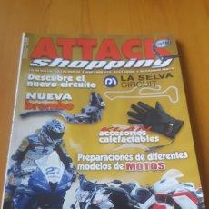 Coches y Motocicletas: LOTE 9 REVISTAS CATÁLOGO ACCESORIOS DE MOTOS ATTACK SHOPPING. Lote 172910677