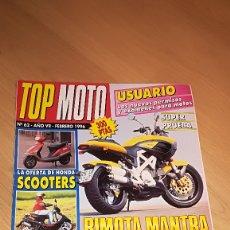 Coches y Motocicletas: TOP MOTO Nº 62 FEBRERO 1996. Lote 173470743