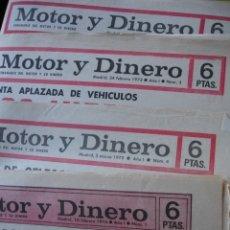 Coches y Motocicletas: REVISTA MOTOR Y DINERO 1973 LOS 4 PRIMEROS NUMEROS MUY BUEN ESTADO. Lote 173566710