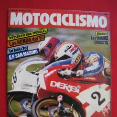 Coches y Motocicletas: REVISTA MOTOCICLISMO - Nº 968 - 28 AGOSTO 1986 - POSTER SITO PONS.. Lote 173879340