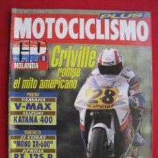 Coches y Motocicletas: REVISTA MOTOCICLISMO - Nº 1271 - 2 JULIO 1992.. Lote 174018390