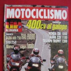 Coches y Motocicletas: REVISTA MOTOCICLISMO - Nº 1269 - 18 JUNIO 1992.. Lote 174018773