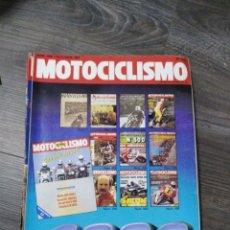 Coches y Motocicletas: LOTE DE 10 REVISTAS MOTOCICLISMO AÑO 1987 N°1000-1009. Lote 174100973
